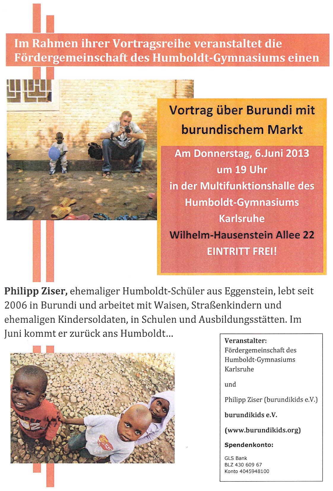 Philipp Ziser Lesung Aus Aktuellem Buch Uber Burundi Am 06