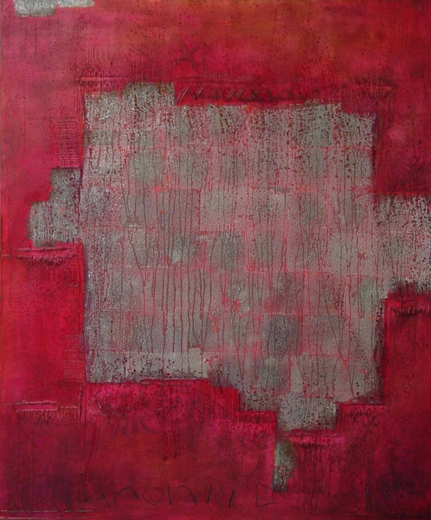 11-26 Mixed Media Blattsilber Leinwand  100 x 120 cm