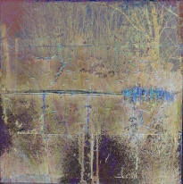 12-03 Mixed Media Blattsilber Leinwand 40 x 40 cm_1_Weide