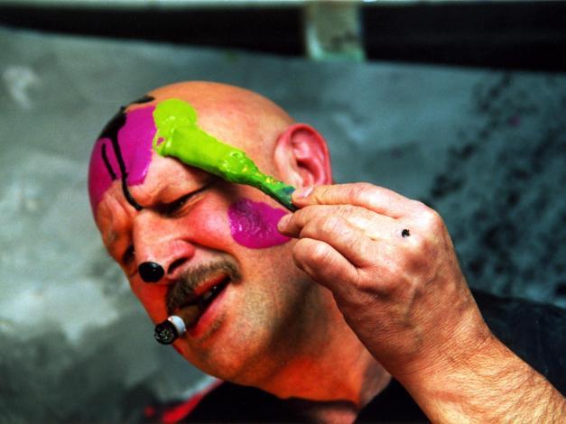 Rüdiger malt sich an