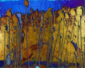 13-11 Mischtechnik Blattgold Leinwand 40 x 50 cm_größer