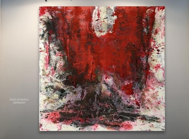Art 2018-Red Filed 100 x 100 cm