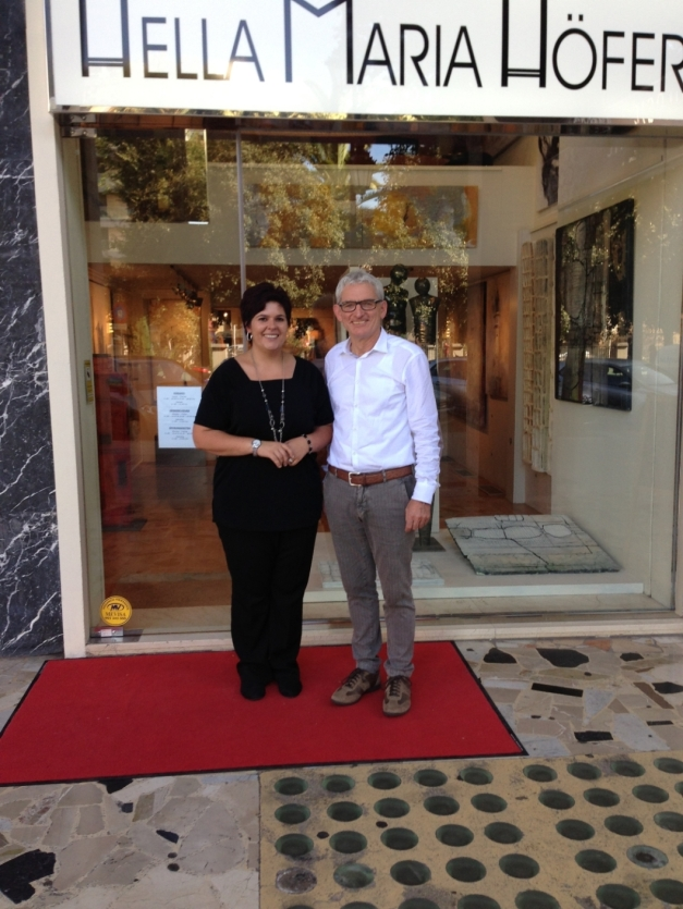 2-Palma vor der Galerie, Katharina, Rudi 2