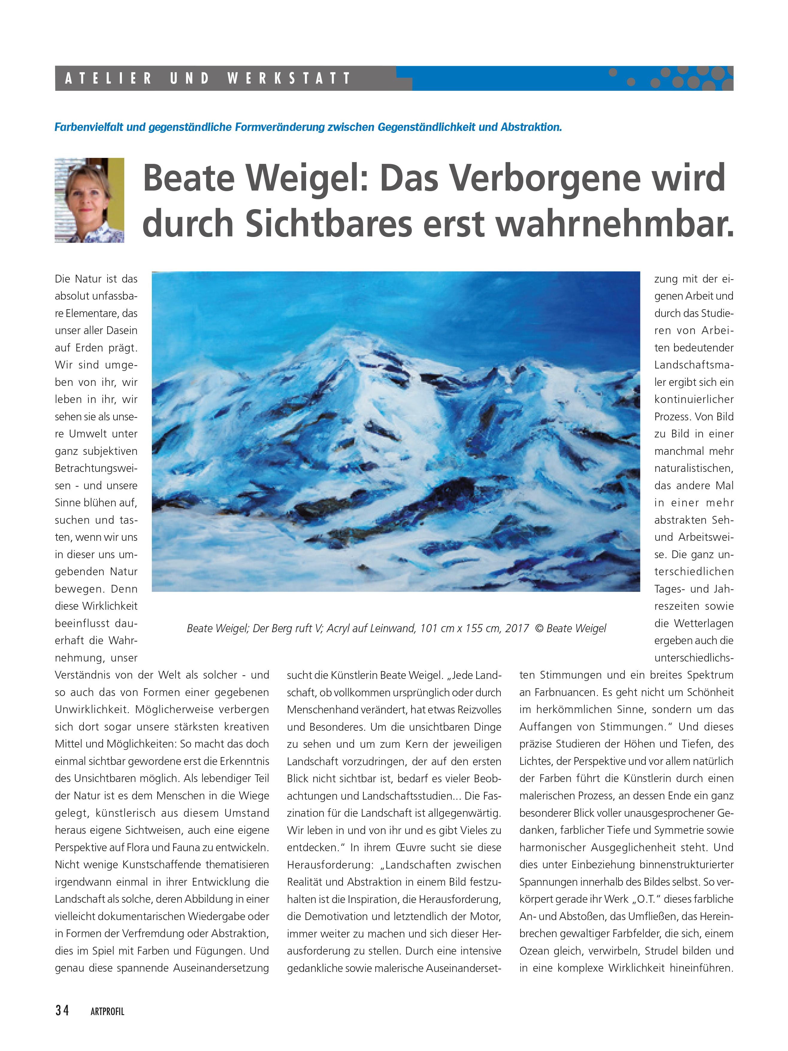 Ein Bericht aus ARTPROFIL - Magazin für Kunst, Heft 132, © SYNTAX. Projektfabrik GmbH, 68219 Mannheim, Deutschland,