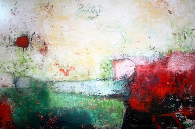 Lorch Petra - Komposition 9.104 - Mischtechnik auf Leinwand 80x120