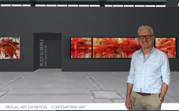 Interior Design Triptichon Red Schrift