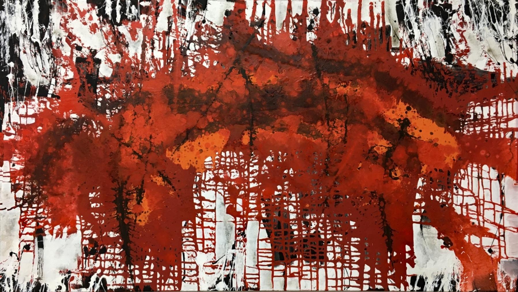 Red Stripe 160 x 90 cm