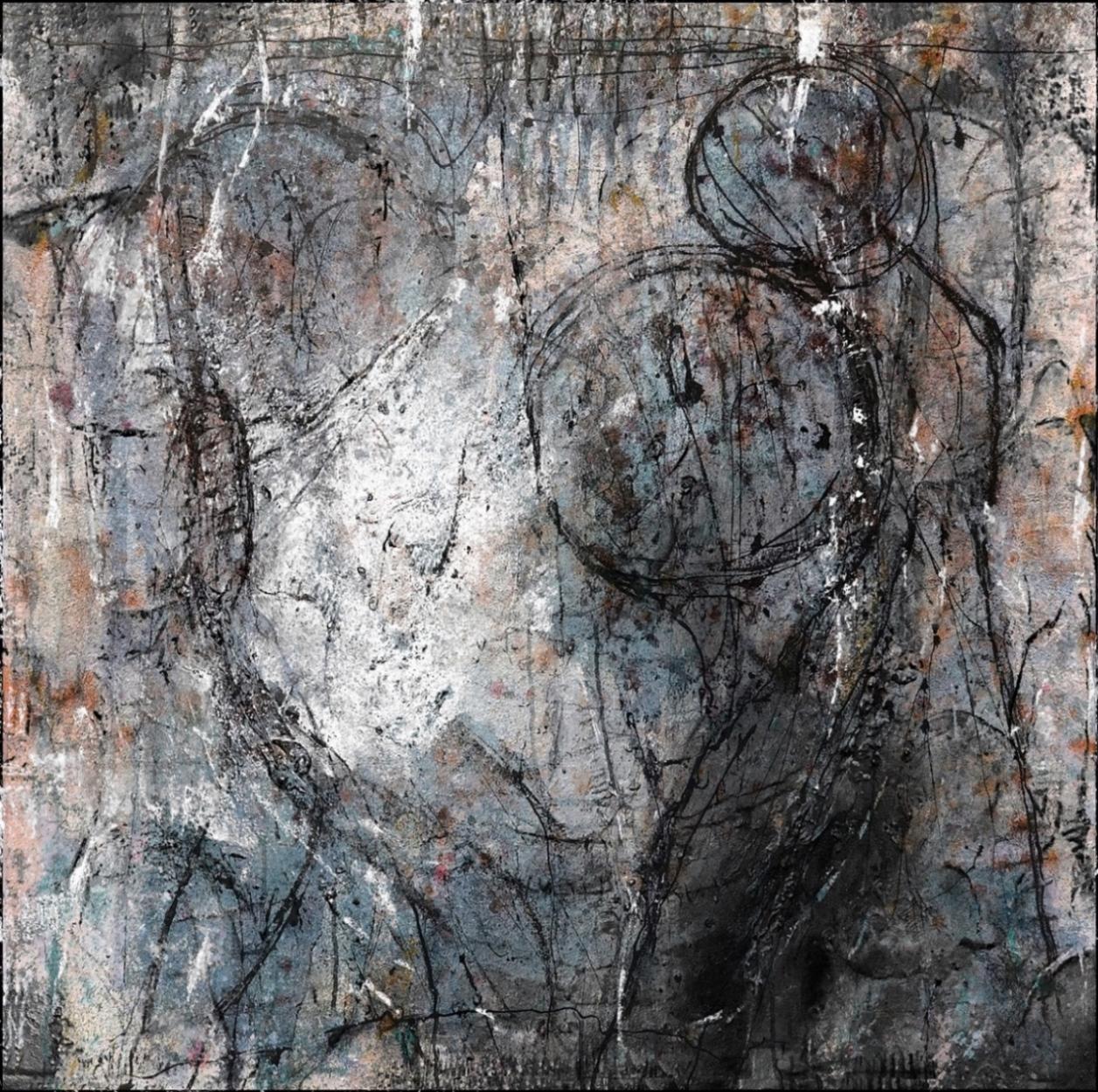 EC16-02 Mixed Media, Pigmente Leinwand 100 x 100 cm